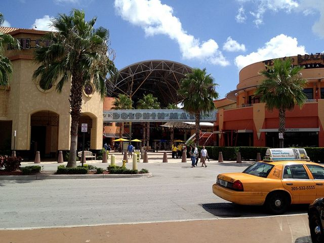 Dolphin Mall in Sweetwater. West of Doral.