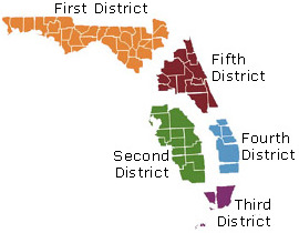 The different Florida appeals courts.