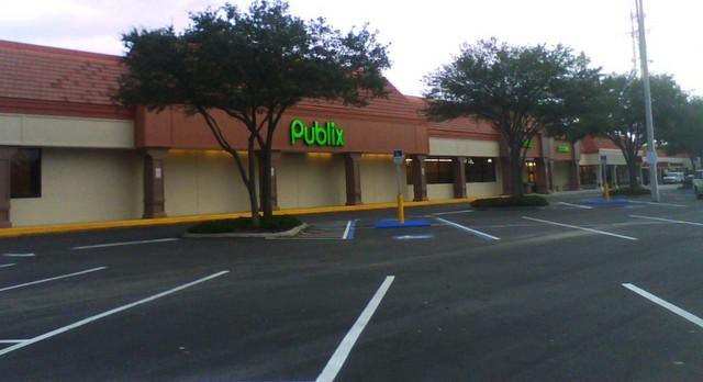 Publix parking lot.