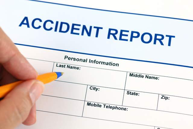 Accident report (Last name, city, telephone)