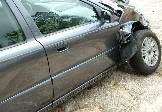 Picture of Car Damage Accident Resulted in Shoulder Surgery