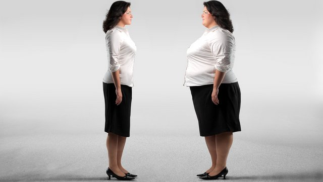 Thin vs overweight lady.