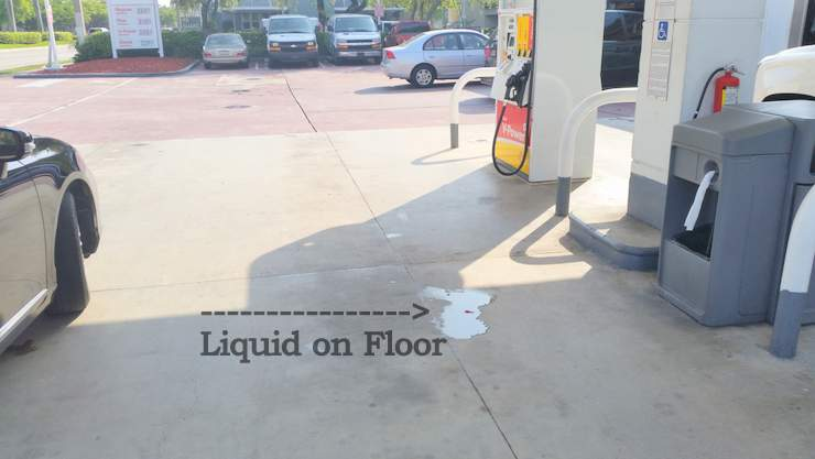 Florida gas station accident, injury claims. Slip and falls. Miami lawyer.