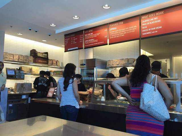 inside Chipotle restaurant