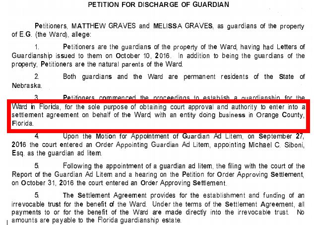 petition for discharge of guardians - settlement