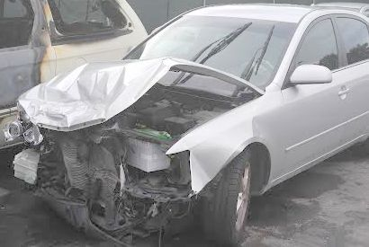 damage to front of car after accident