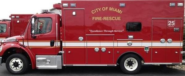 City of Miami Fire rescue ambulance