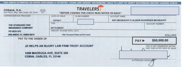 Travelers Insurance paid the $50k bodily injury limits within just 38 days of the accident