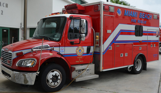 Miami Beach Fire Rescue ambulance