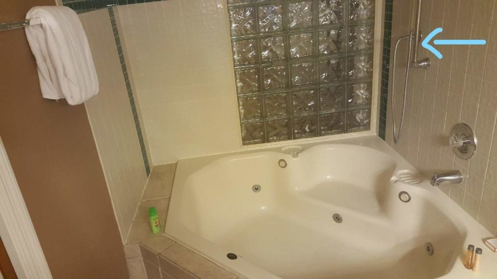 Woman fell in this tub and suffered personal injury