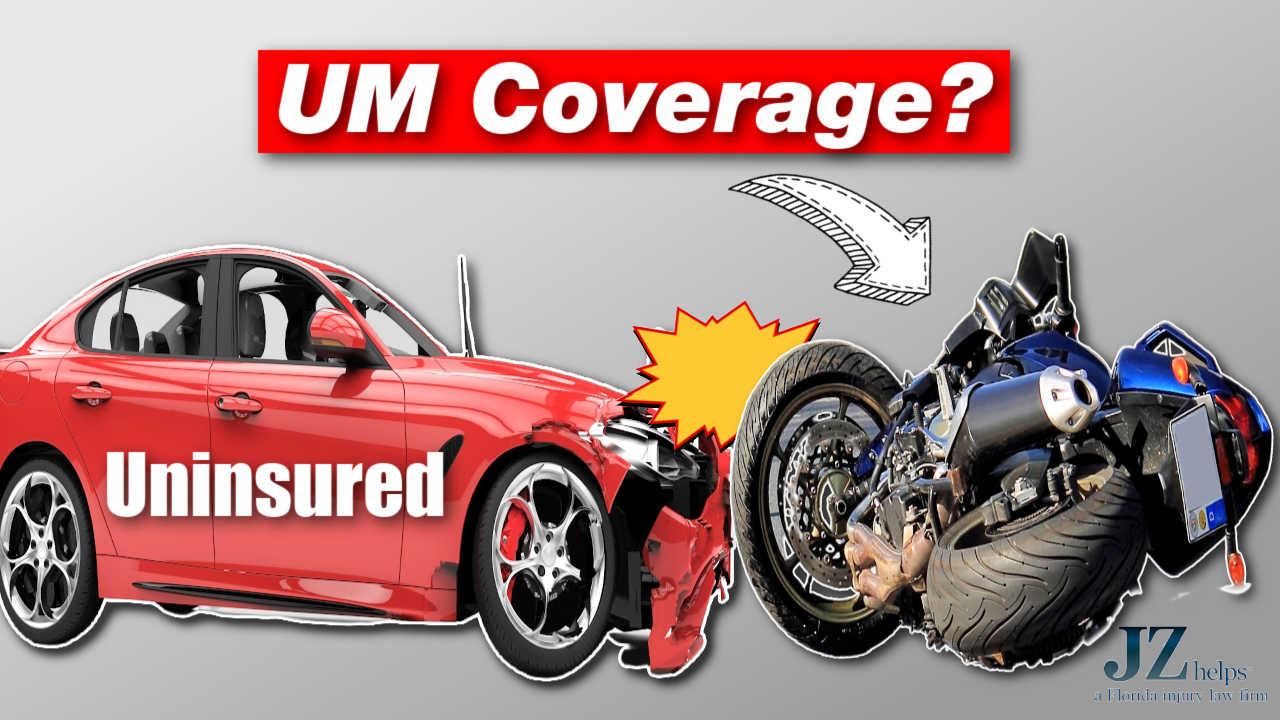 uninsured motorist insurance coverage motorcycle rider hit by car