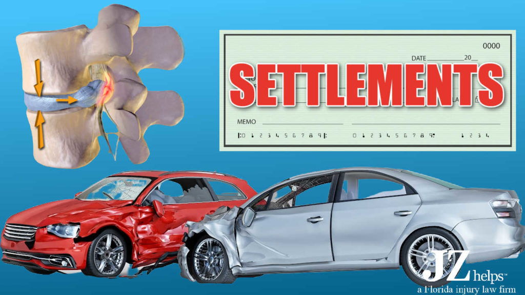 herniated disc settlements and claims (car accidents)